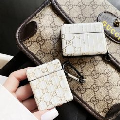 Gucci Style Electroplating Box Protective Case For Apple Airpods 1 & 2 & Pro - Casememe