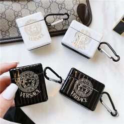 Versace Style Electroplating Protective Case For Apple Airpods 1 & 2 & Pro - Casememe
