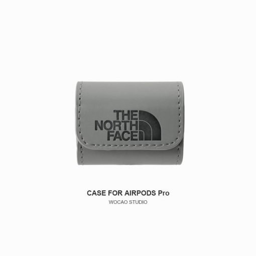 The North Face Style Leather Protective Case For Apple Airpods 1 & 2 & Pro - Casememe