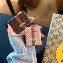 Gucci Style Bee Box Protective Case For Apple Airpods 1 & 2 & Pro - Casememe