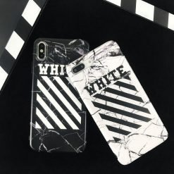OFF WHITE Style Marble Classic Matte Soft Silicone Designer iPhone Case For iPhone SE 11 Pro Max X XS Max XR 7 8 Plus - Casememe