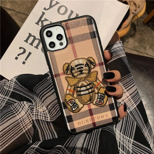 Burberry Style Classic Fabric Designer iPhone Case For All iPhone Models - Casememe
