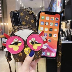 Louis Vuitton Style Owl Leather Designer iPhone Case For All iPhone Models - Casememe