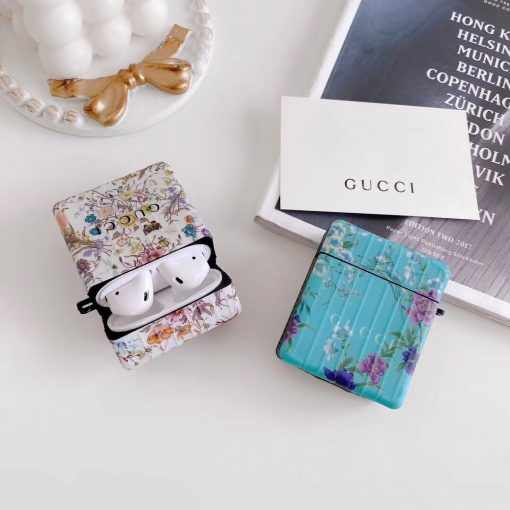 Gucci Style Floral Protective Case For Apple Airpods 1 & 2 & Pro - Casememe