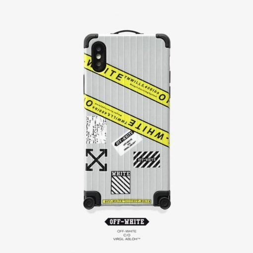 OFF Whtite Style Trunk  Shockproof Protective Designer iPhone Case For iPhone SE 11 Pro Max X XS Max XR 7 8 Plus - Casememe