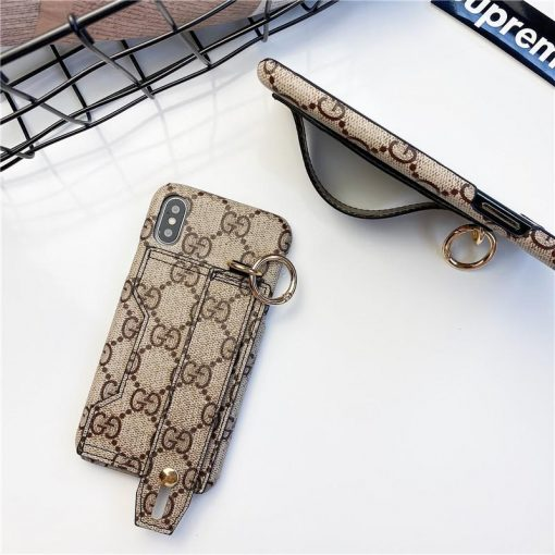 Gucci Style Cardholder Wallet Leather Designer iPhone Case For All iPhone Models - Casememe