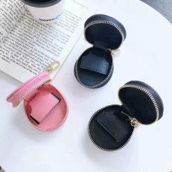 Prada Style Round Pouch Protective Case For Apple Airpods 1 & 2 & Pro - Casememe
