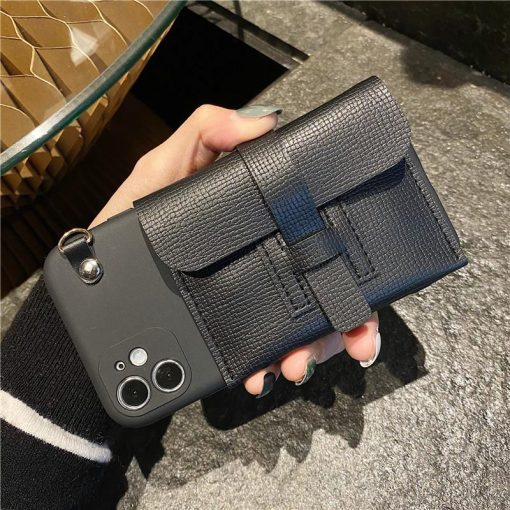 Hermes Style Classic Leather Designer iPhone Case For All iPhone Models - Casememe