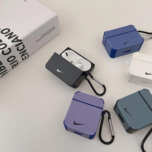 Nike Style Leather Protective Case For Apple Airpods 1 & 2 & Pro - Casememe