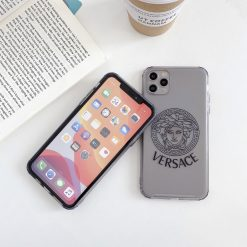 Versace Style Clear Shockproof Protective Designer iPhone Case For iPhone 12 SE 11 Pro Max X XS Max XR 7 8 Plus - Casememe