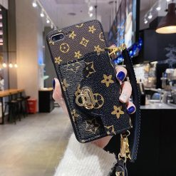 Louis Vuitton Style Luxury Leather Designer iPhone Case For All iPhone Models - Casememe