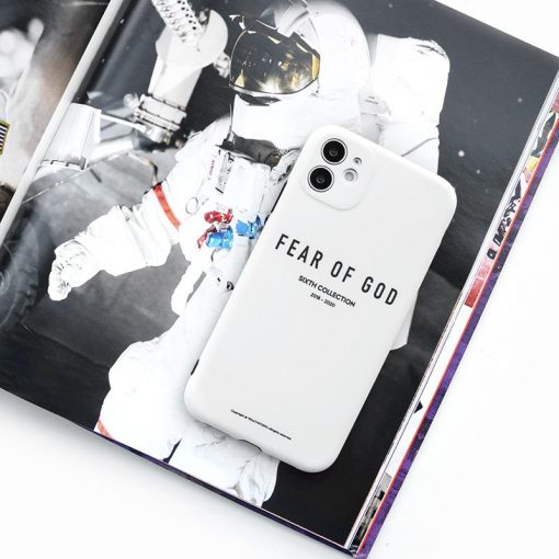FEAR OF GOD Style White Shockproof Protective Designer iPhone Case For iPhone SE 11 Pro Max X XS Max XR 7 8 Plus - Casememe