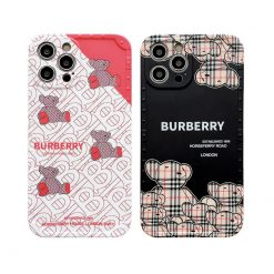 Burberry Style Bears Silicone Designer iPhone Case For All iPhone Models - Casememe