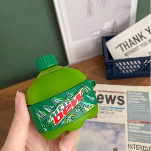 Mountain Dew Pop Silicone Protective Case For Apple Airpods 1 & 2 & Pro - Casememe