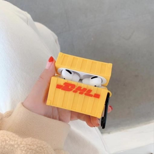 DHL Box Silicone Protective Case For Apple Airpods 1 & 2 & Pro - Casememe