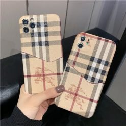 Burberry Style Cardholder Wallet Designer iPhone Case For All iPhone Models - Casememe