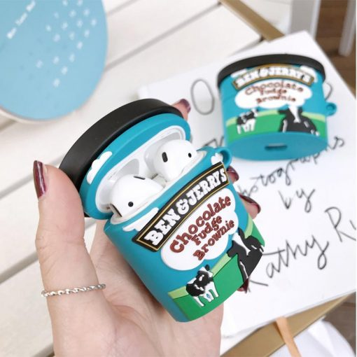 Ben & Jerry's Ice Cream Silicone Protective Case For Apple Airpods 1 & 2 & Pro - Casememe