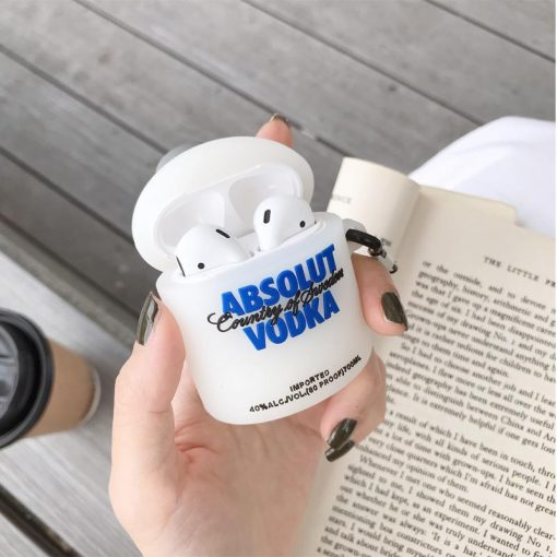 Absolute Vodka Silicone Protective Case For Apple Airpods 1 & 2 & Pro - Casememe