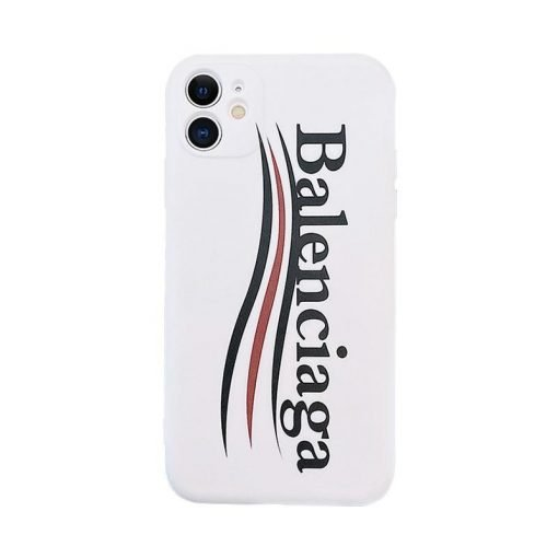 Balenciga Style White Shockproof Protective Designer iPhone Case For iPhone 12 SE 11 Pro Max X XS Max XR 7 8 Plus - Casememe