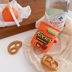 Reese's Chocolate Silicone Protective Case For Apple Airpods 1 & 2 & Pro - Casememe