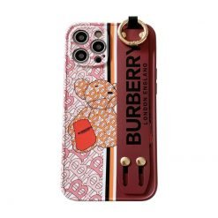 Burberry Style Leather Strap Designer iPhone Case For all iPhone models - Casememe