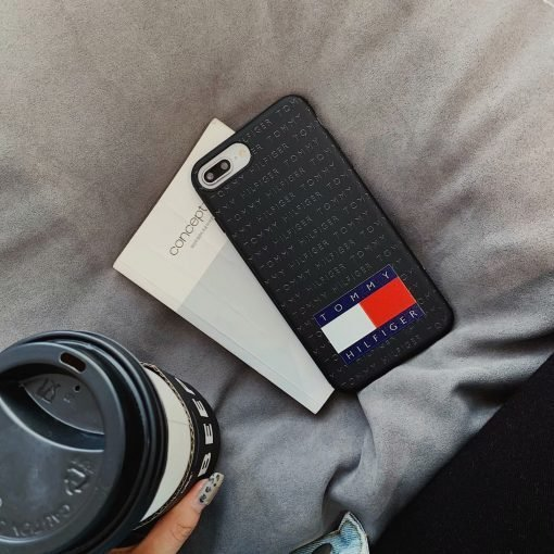 Tommy Hilfiger Style Silicone Designer iPhone Case For iPhone X XS XS Max XR 7 8 Plus - Casememe