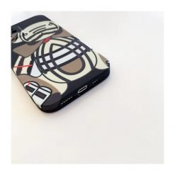 Burberry Style Silicone Bear Designer iPhone Case For All iPhone Models - Casememe