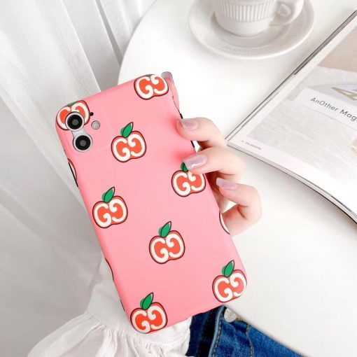 Gucci Style Apple Shockproof Protective Designer iPhone Case For iPhone 12 SE 11 Pro Max X XS Max XR 7 8 Plus - Casememe
