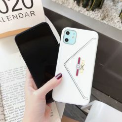GUCCI Style Leather Shockproof Protective Designer iPhone Case For iPhone 11 Pro Max X XS Max XR 7 8 Plus - Casememe