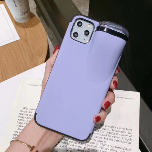Airpods 1 & 2 Storage Smooth Silicone Shockproof Protective Designer iPhone Case For iPhone 11 Pro Max X XS Max XR 7 8 Plus - Casememe