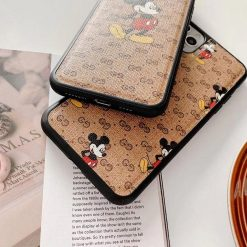 Gucci Style Mickey Mouse Silicone Frame Shockproof Protective Designer iPhone Case For iPhone SE 11 Pro Max X XS Max XR 7 8 Plus - Casememe