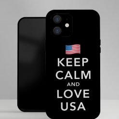 Keep Calm and Love USA Designer iPhone Case For iPhone SE 11 Pro Max X XS Max XR 7 8 Plus - Casememe