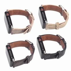 MORE COLORS Coach Style Leather Compatible With Apple Watch 38mm 40mm 42mm 44mm Band Strap For iWatch Series 4/3/2/1 - Casememe