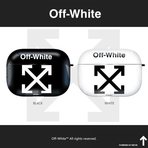 OFF-WHITE Style Matte Protective Case For Apple Airpods 1 & 2 & Pro - Casememe