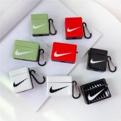 Nike Style Square Hard Protective Case For Apple Airpods 1 & 2 & Pro - Casememe