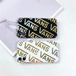 Vans Style Electroplating Glossy TPU Silicone Designer iPhone Case For iPhone 12 SE 11 Pro Max X XS XS Max XR 7 8 Plus - Casememe