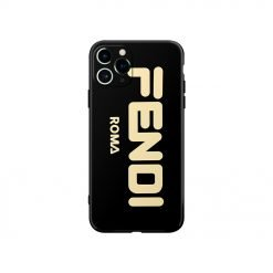 Fendi Style Electroplating Glossy TPU Silicone Designer iPhone Case For iPhone 12 SE 11 Pro Max X XS XS Max XR 7 8 Plus - Casememe