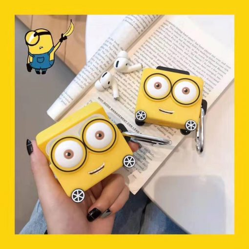 Despicable Me Minions Style Silicone Luggage Protective Case For Apple Airpods Pro - Casememe