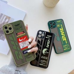 DHL Series Matte Silicone Shockproof Protective Designer iPhone Case For iPhone SE 11 Pro Max X XS Max XR 7 8 Plus - Casememe