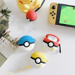 Pokemon Ball Style Silicone Protective Shockproof Case For Apple Airpods 1 & 2 - Casememe