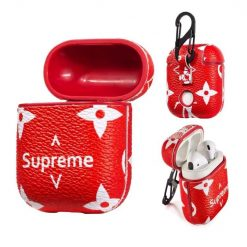 Luxury Supreme Style AirPods Leather Protective Shockproof Case For Apple Airpods 1 & 2 - Casememe