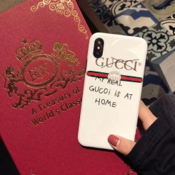 Gucci Style Meme Glossy Silicone Designer iPhone Case For iPhone SE 11 Pro Max X XS Max XR 7 8 Plus - Casememe