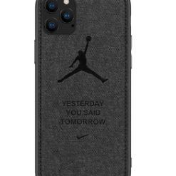 Air Jordan Soft Cloth Shockproof Designer iPhone Case For iPhone SE 11 Pro Max X XS XS Max XR 7 8 Plus - Casememe