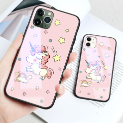 Dreamy Unicorn Tempered Glass Designer iPhone Case For iPhone SE 11 Pro Max X XS XS Max XR 7 8 Plus - Casememe