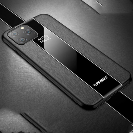 Leather Tempered Glass Luxury Business Designer iPhone Case For iPhone SE 11 Pro Max X XS XS Max XR 7 8 Plus - Casememe