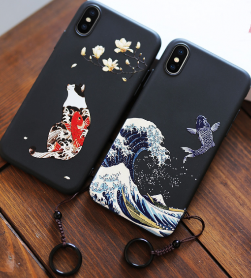 The Great Wave Kanagawa Ukiyo-e Silicone Designer iPhone Case For iPhone 12 SE 11 Pro Max X XS XS Max XR 7 8 Plus - Casememe