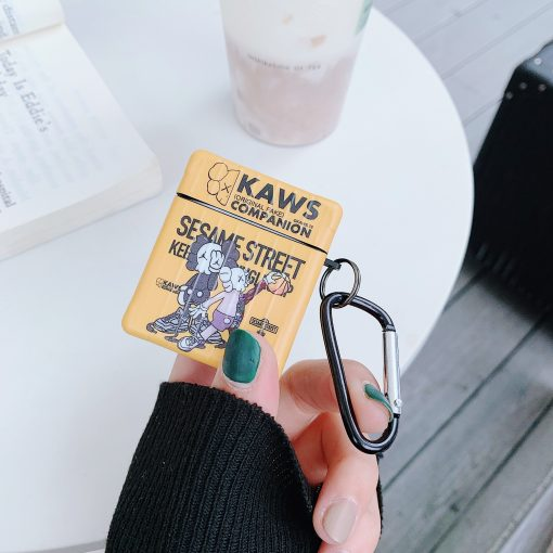 KAWS Style Luggage Luxury Leather Box Protective Case For Apple Airpods 1 & 2 - Casememe