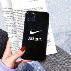 Nike Style  Glossy Shockproof Protective Designer iPhone Case For iPhone 12 SE 11 Pro Max X XS Max XR 7 8 Plus - Casememe