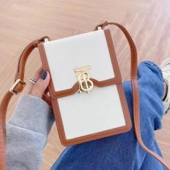 Burberry Style Crossbody Purse Leather Designer iPhone Case For All iPhone Models - Casememe