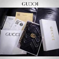 Gucci Style Classic Crossbody Purse Leather Designer iPhone Case For All iPhone Models - Casememe